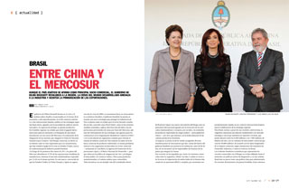 Entre China y el Mercosur