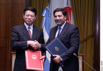 La Argentina y China intercambiarán información